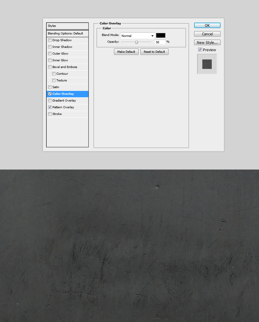 Color Overlay for the photoshop layer style
