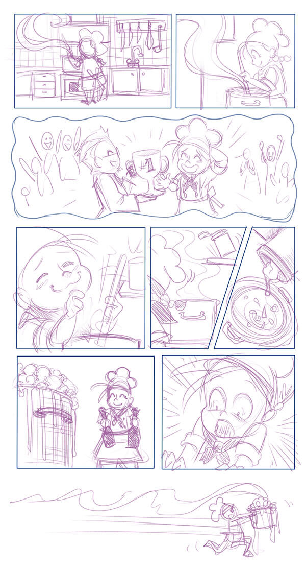 Comic layout sketch