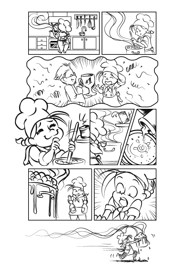finished comic page layout