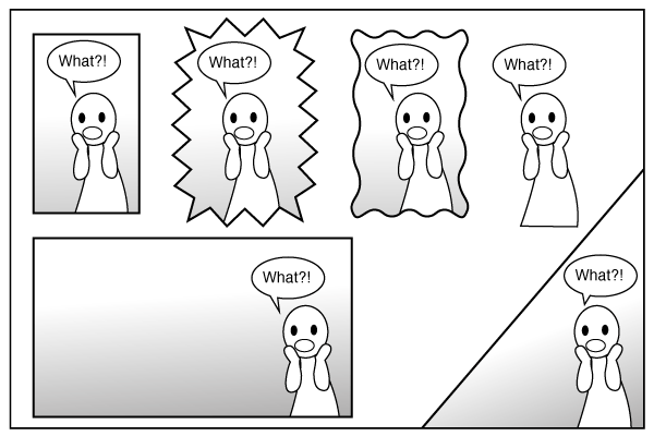 examples of different types of comic panels