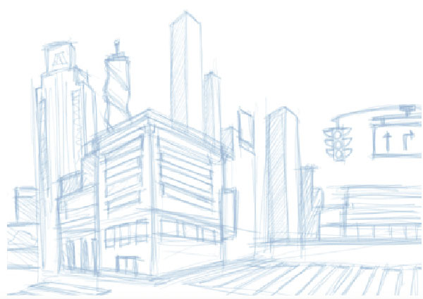 City rough sketch