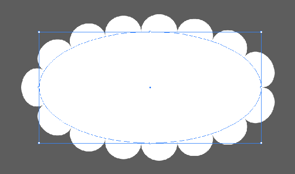The new Pattern Brush applied to a oval shape