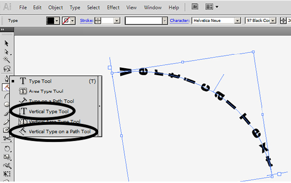 Working with type on a path in illustrator you can also create vertical text on a path select either the vertical type tool or the vertical type on a path tool then click on your path and start ccuart Choice Image