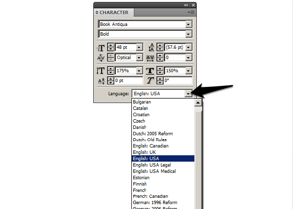 spell check entire indesign document