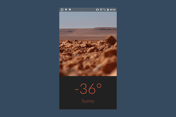 Creating a Weather Application for Mars Using Volley