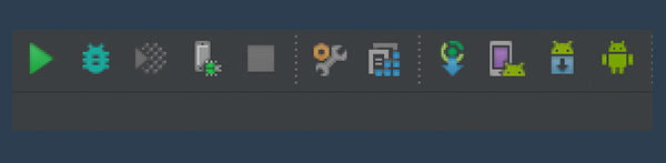 Android Studio Toolbar