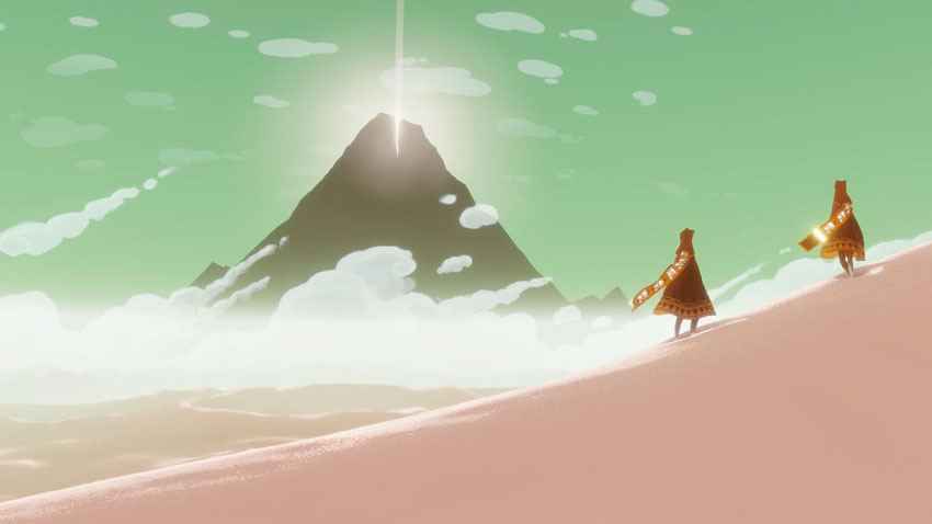 A screenshot from Journey