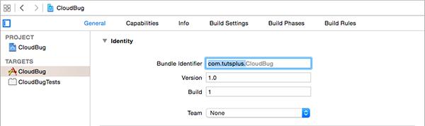 Configuring the CloudBug Target