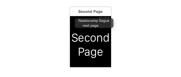 Setting up next page segue