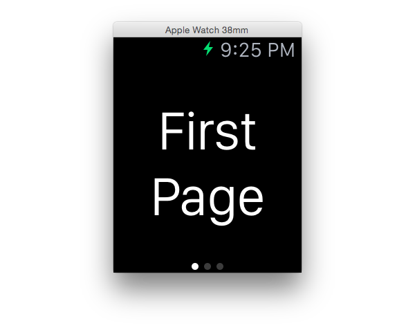 Initial app screen First page