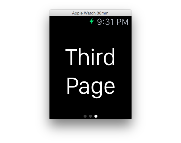 Initial app screen Third page