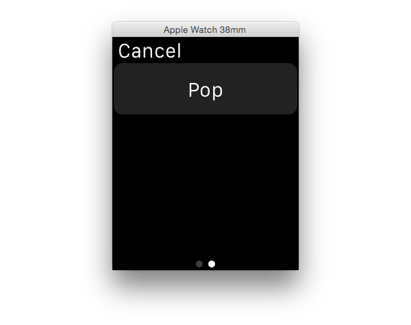 Modal page-based interface 2
