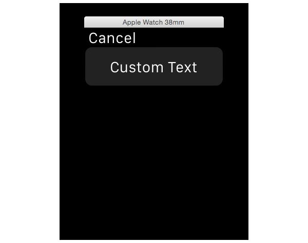 Interface using contexts