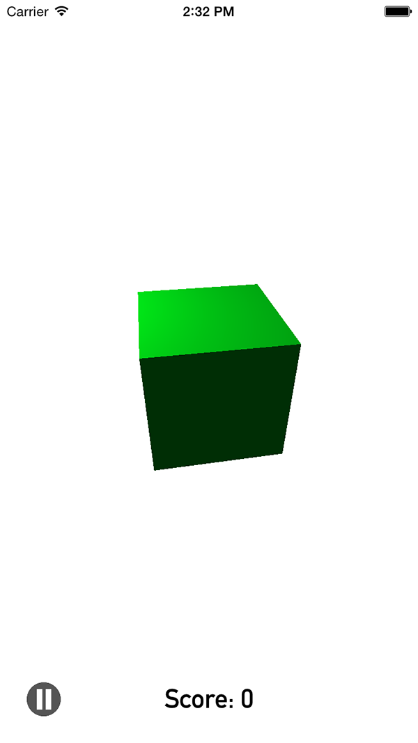 Cube colour change