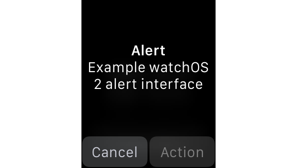 Displaying a simple alert on watchOS 2