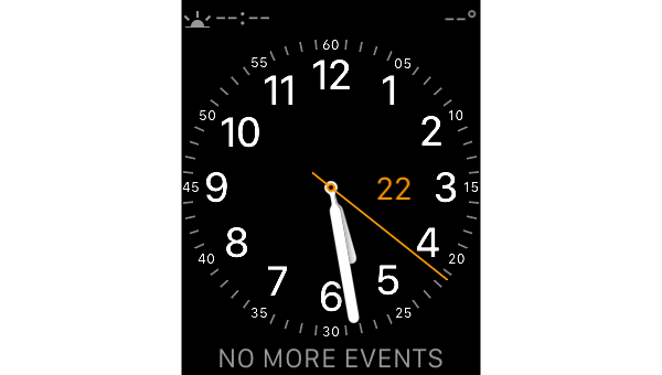 Initial watch face