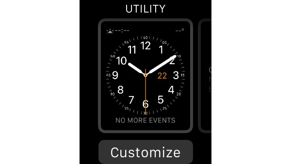 Watch face chooser