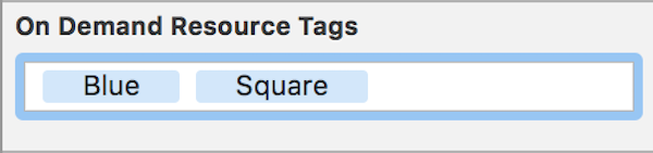 Blue Square tags
