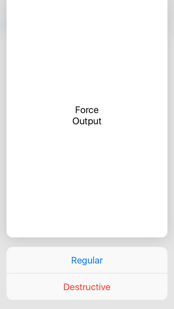 Force preview actions from group