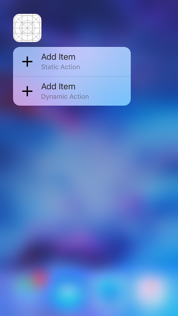Application quick actions