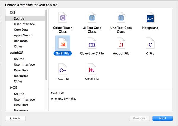 Swift source file