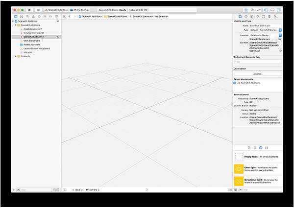 Xcode Scene Editor