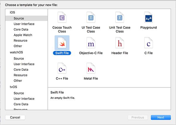 Swift File Template