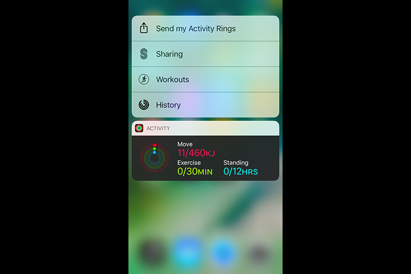 Activity Widget on Home Screen