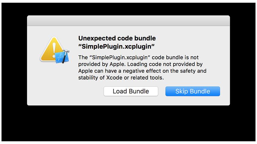 Sympli plugin alert