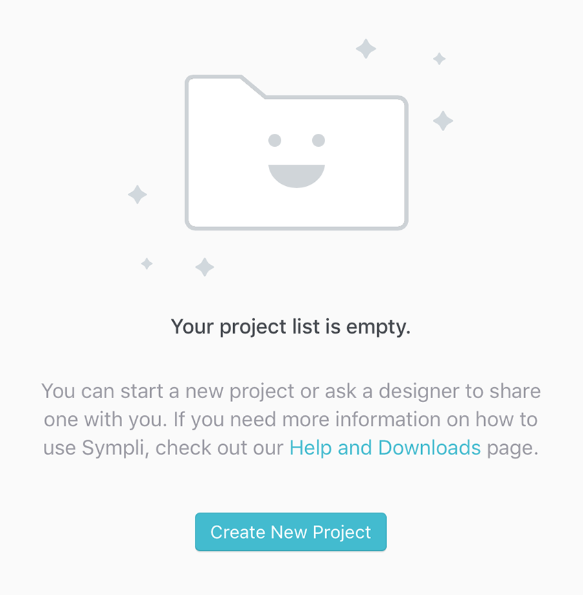 Empty Project Message