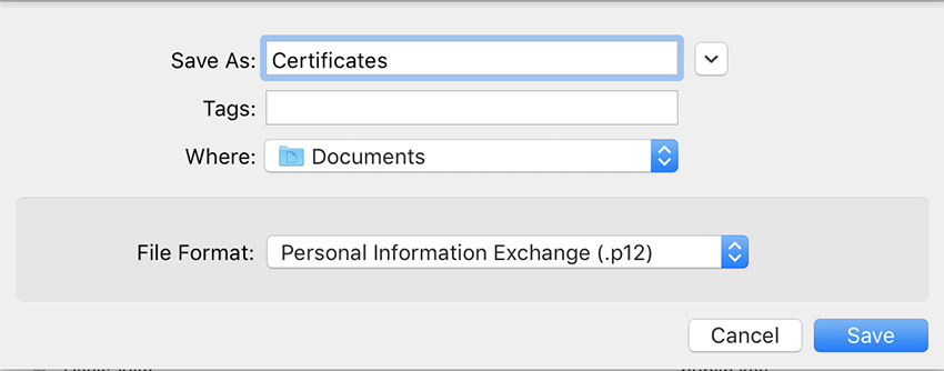Certificate Exporting Options