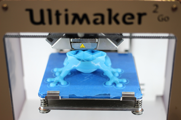 A model underway on the Ultimaker a popular hobbyist 3D printer