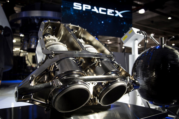 SpaceX SuperDraco rocket engines using parts 3D printed with Inconel superalloy