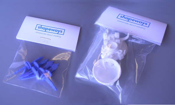 3D printed parts from Shapeways an online 3D printing service