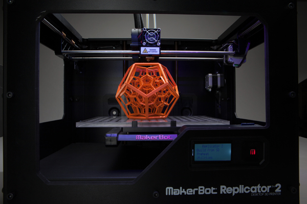 4D Dodecahedron in a MakerBot Replicator 2
