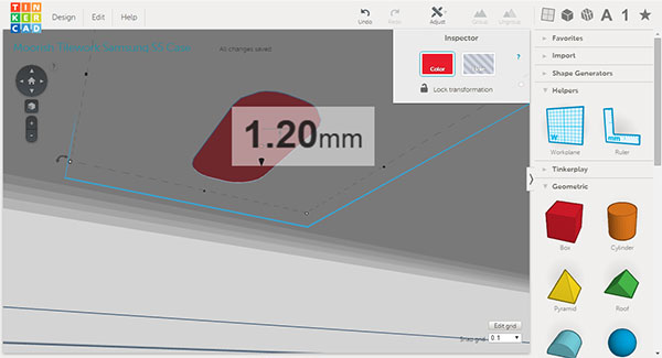 Tinkercad Thickness