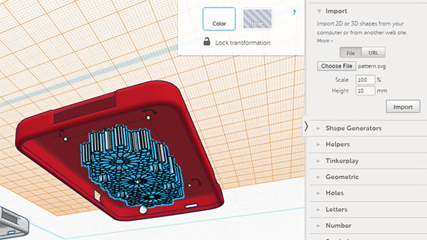 Tinkercad Imported pattern