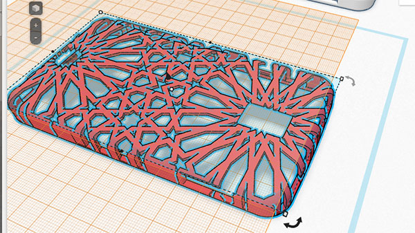 Tinkercad Moorish tile pattern phone case