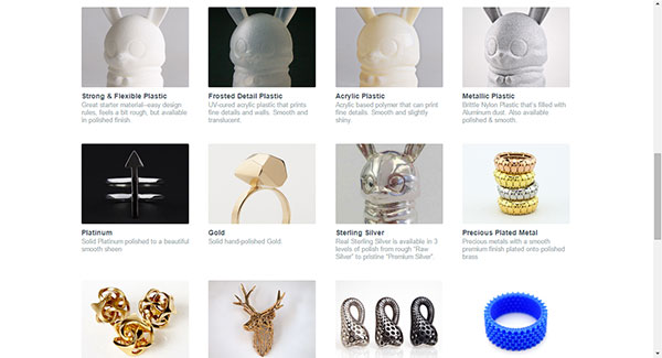 Shapeways Materials