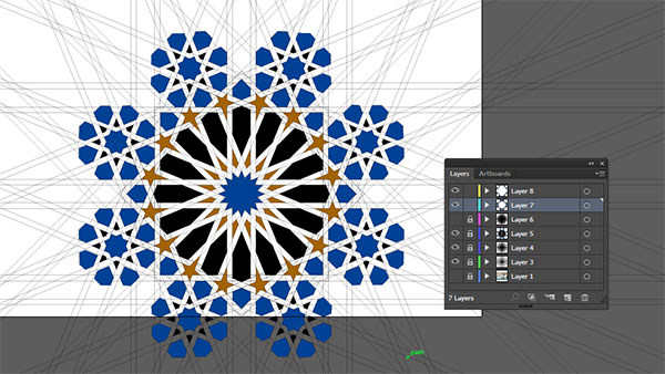 Moorish tile work vector more symmetries