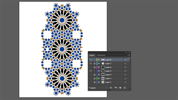 Moorish tile work vector final pattern