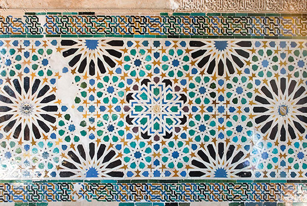 Moorish Tilework in the Alhambra paoloairenti via photodune