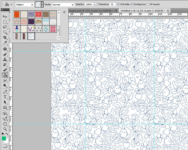 Seamless pattern in PS - testing the pattern