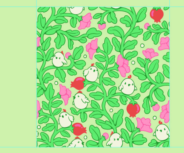 Seamless pattern in PS - the final tile completed