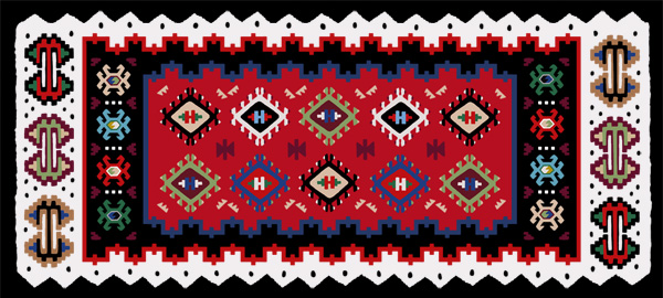 A possible final kilim design loosely based on a traditional kilim