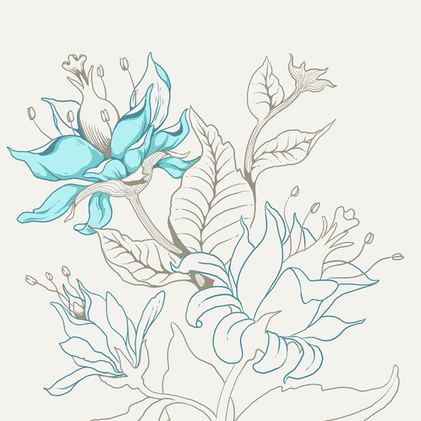 Seamless Fantasy Floral in PS - Initial Shading