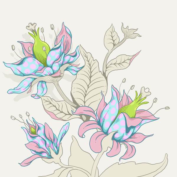 Seamless Fantasy Floral in PS - Final Coloring