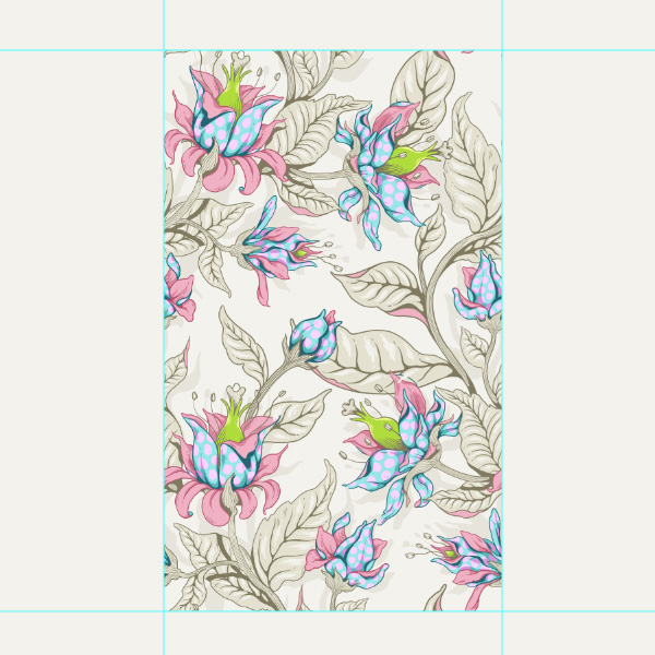 Seamless Fantasy Floral in PS