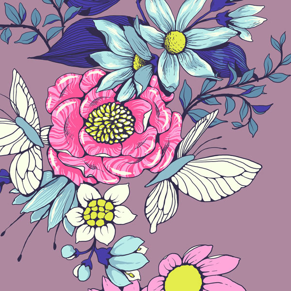 Make a floral pattern for fabric in PS - details and textures