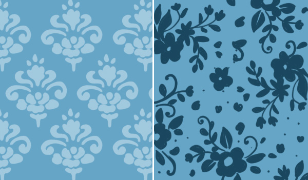 Make a floral pattern for fabric in PS - set repeat vs flowing repeat